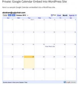 Embed Google Calendar WordPress Website